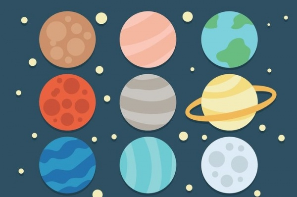 Stunning Cartoon Planet Icons