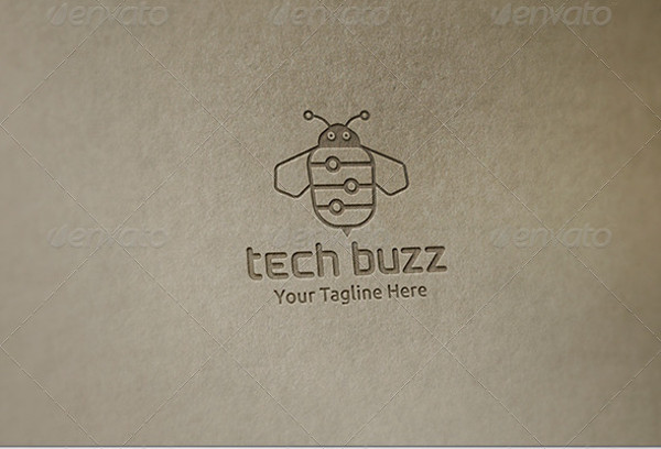 Stunning Technology Buzz Logo