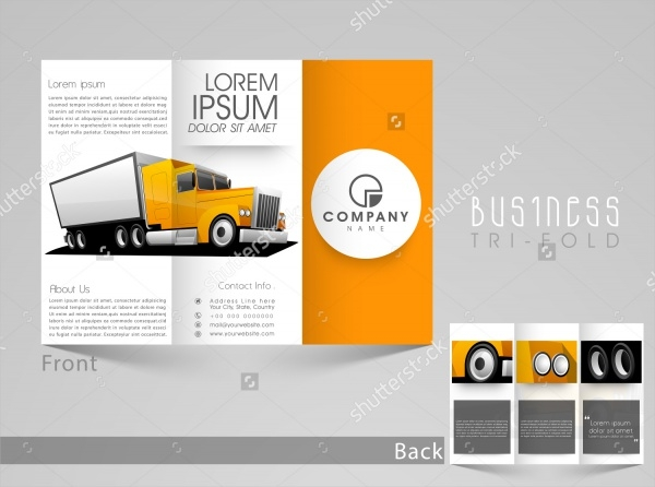 Stylish Automotive Tri Fold Brochure Template