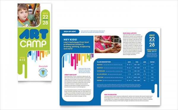 20 summer camp brochures psd vector eps jpg download for Camp brochure template