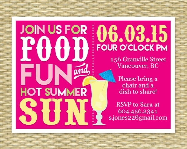 Summer BBQ Bash Invitation