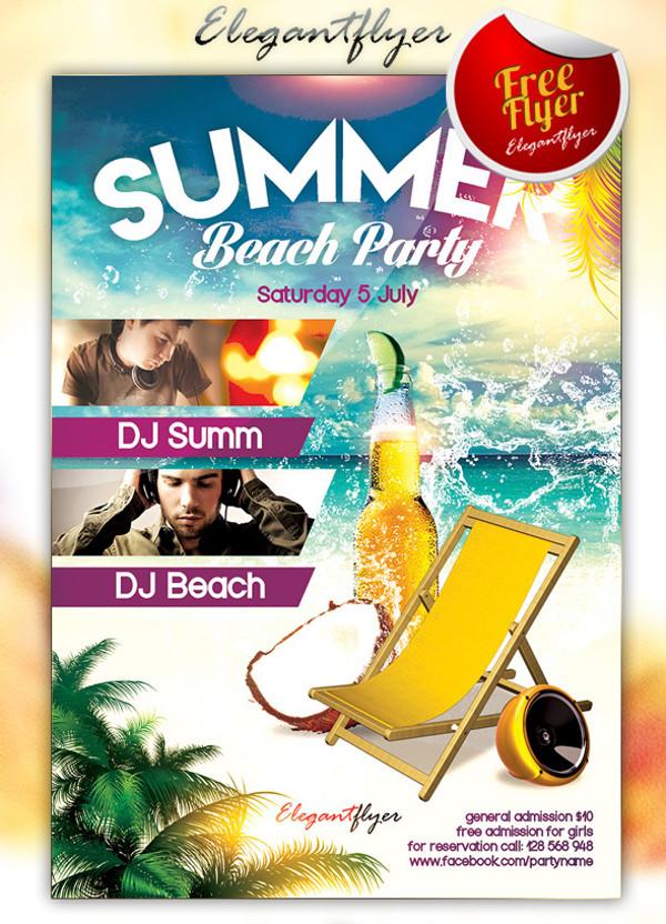 Summer Beach Party PSD Flyer
