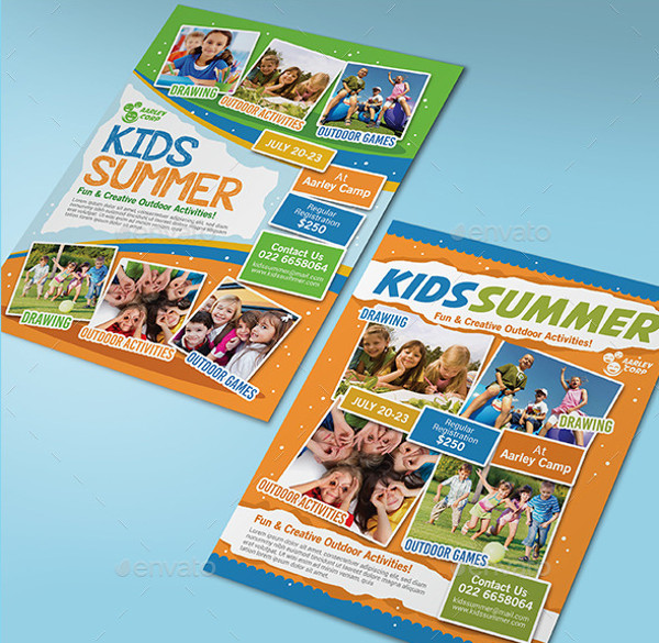summer camp tutoring flyer design