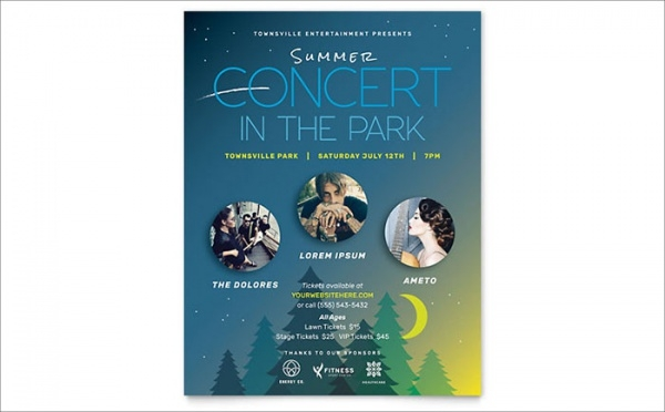 Summer Concert Flyer Template