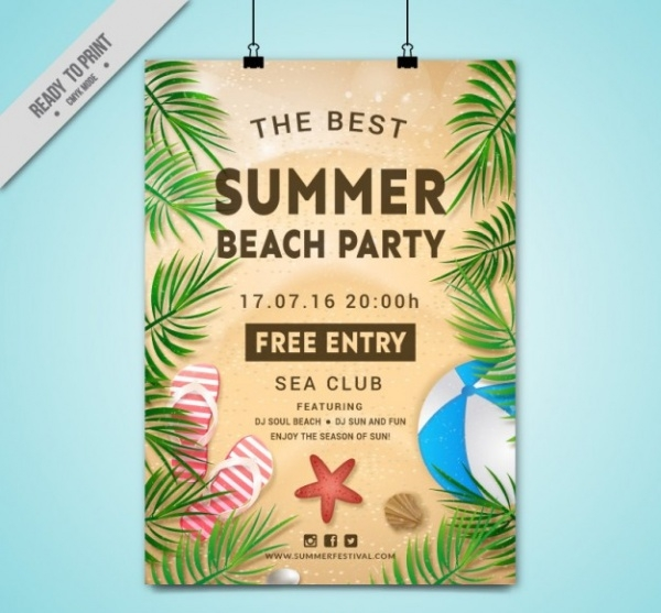 Summer Holiday PSD Flyer