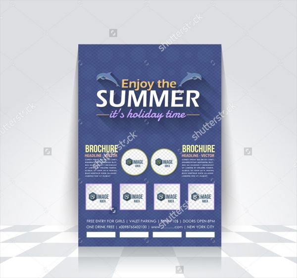 Summer Holiday Sale Brochure Design