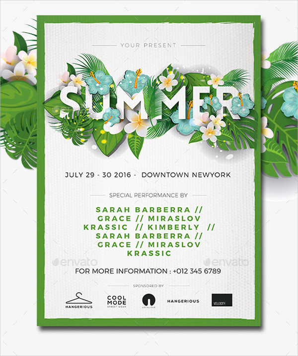 Summer Spring Flyer Design