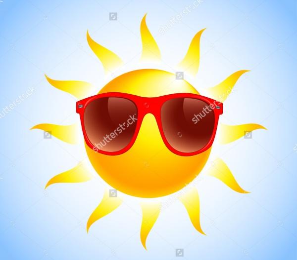 Summer Sun Glasses Illustration