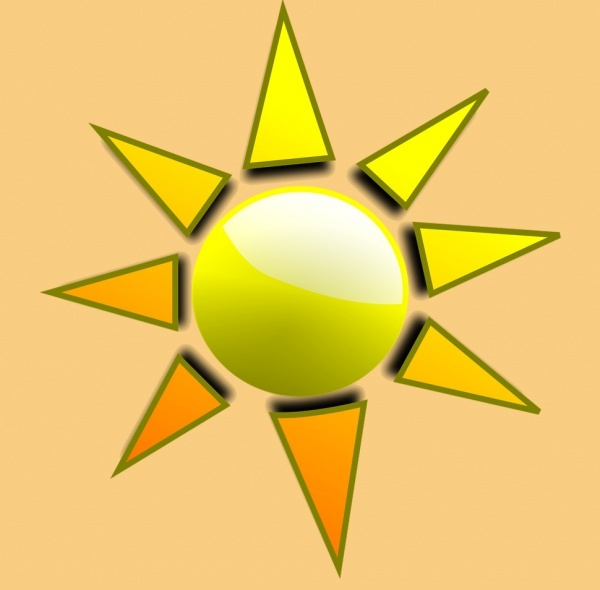 Sun Illustration With Transparent Background