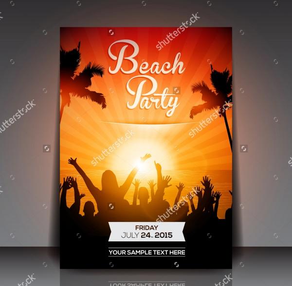 Sunset Beach Flyer Design