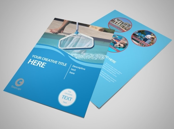 37 modern cleaning flyer templates creatives psd ai eps for Pool design templates