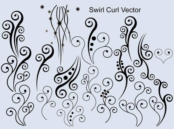 Swirl Curly Vector Design