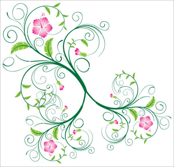 Swirly Vectors Decorated With Vines