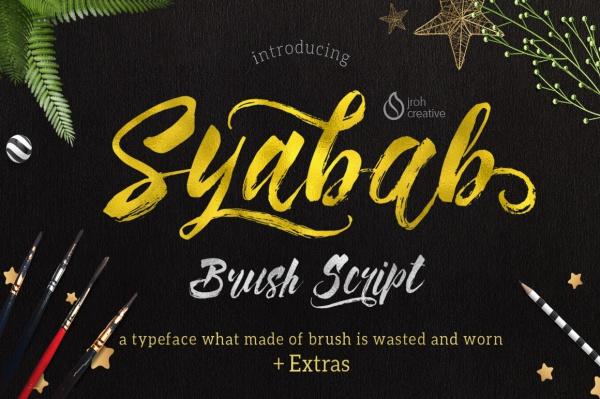 Syabab Brush Script Typeface Font