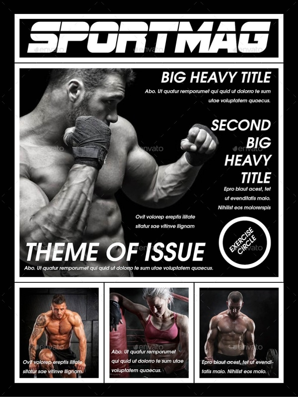 Tablet Sport Magazine Template