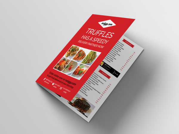 Take Out Menu Flyer