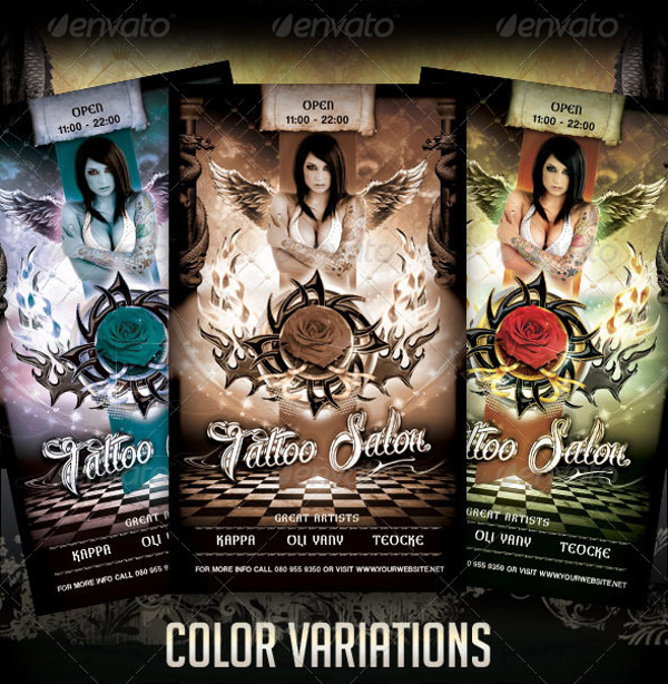 Tattoo Salon Flyer Design