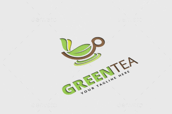 Tea Flat Design Logo