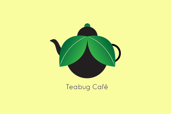Tea bug Cafe Logo design