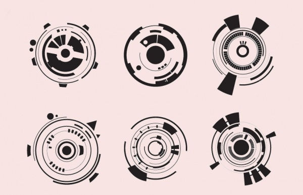 Technology Circles Vector