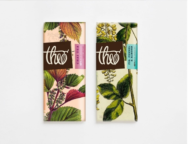 theo chocolate packaging design