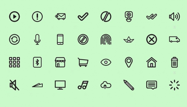 Thin Outlined Minimal Icons