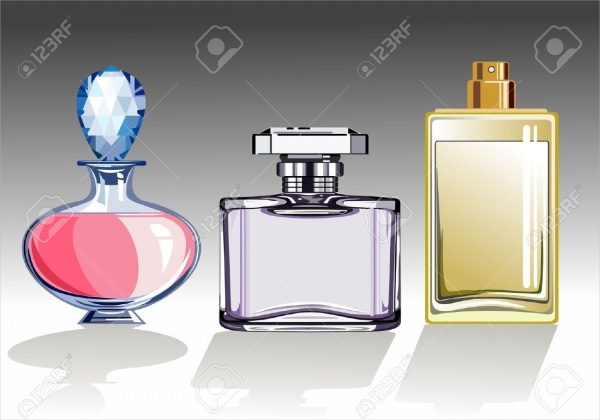 Three Glass Perfume Packaging