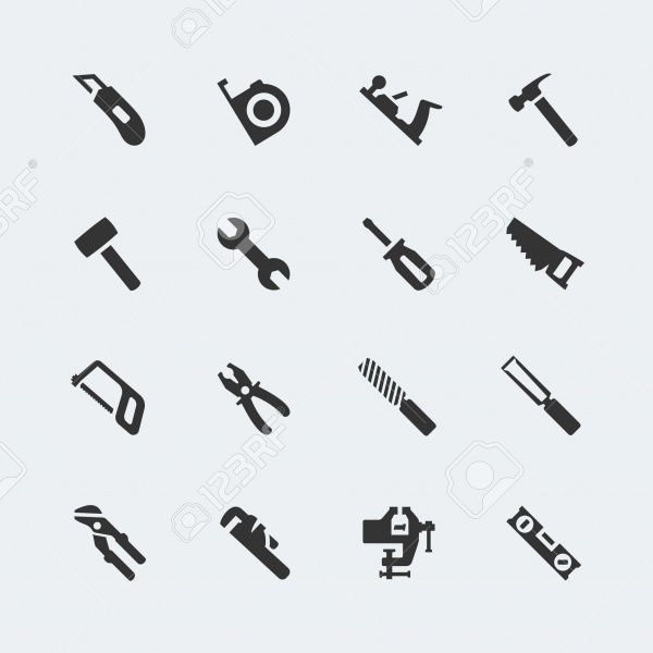 Tools Vector Mini Icons Set