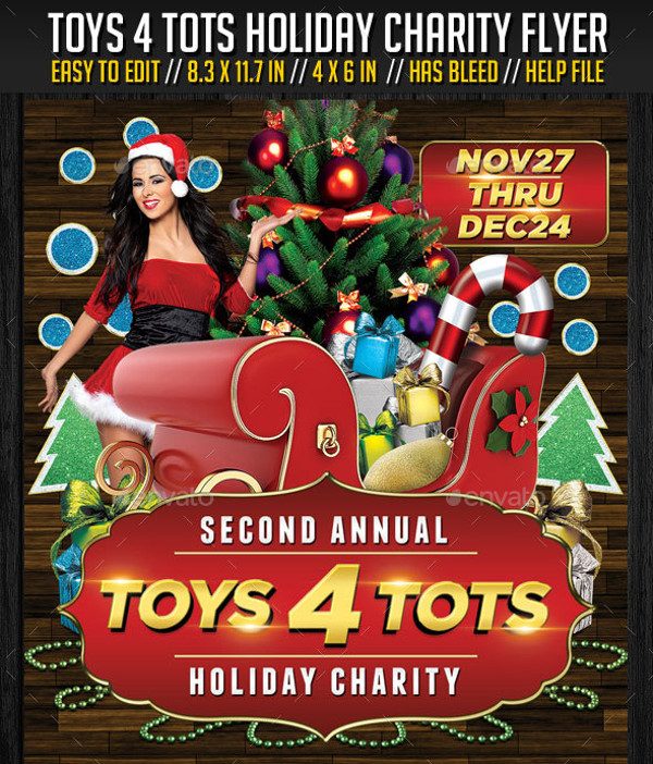 Toys For Tots Advertisement : Charity flyer templates psd vector eps jpg