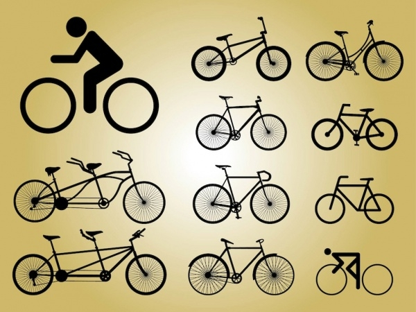 Transportation Biking Icons vector