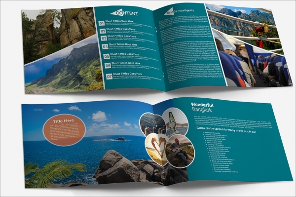 Travel Agency Square Brochure Design