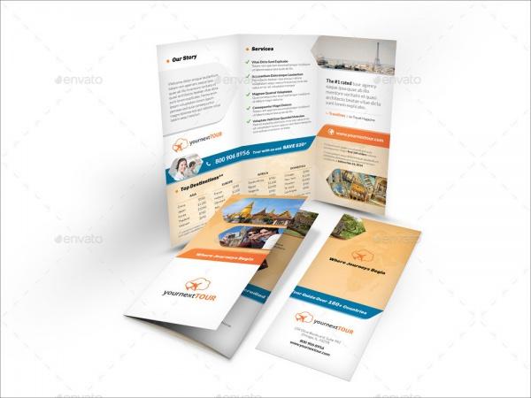 Travel Agency Tri Fold Brochure