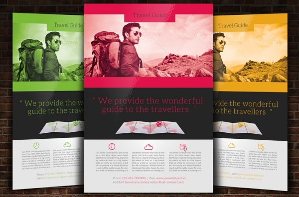 Travel Guide Flyer Template