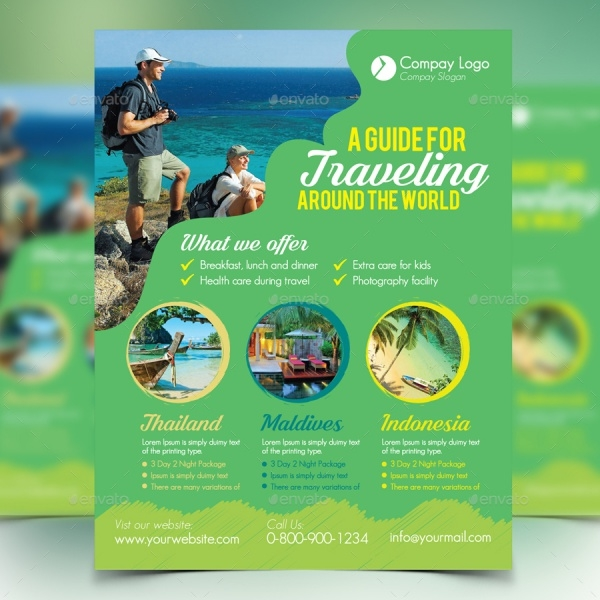 Travel Guide Flyer Templates