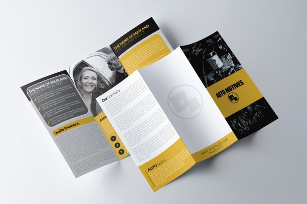Tri Fold Automotive Brochure Design Template