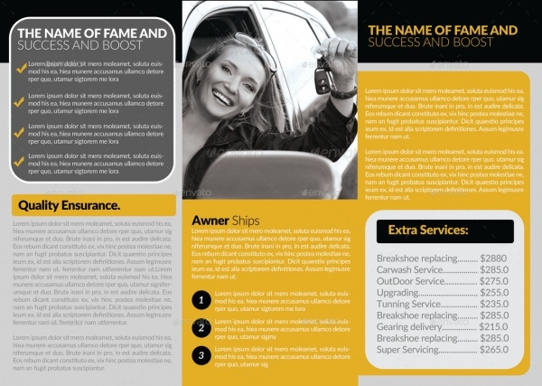 Tri Fold Automotive Brochure