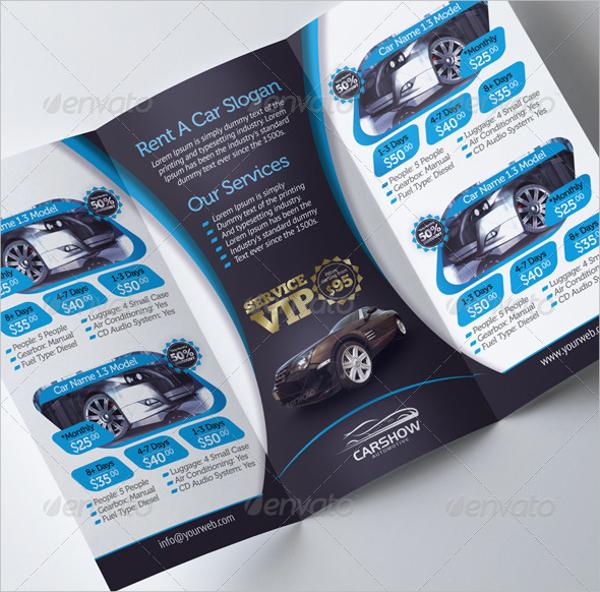 Tri Fold Car Brochure Design