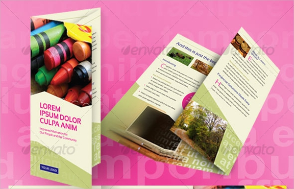 Tri Fold Financial Brochure Design