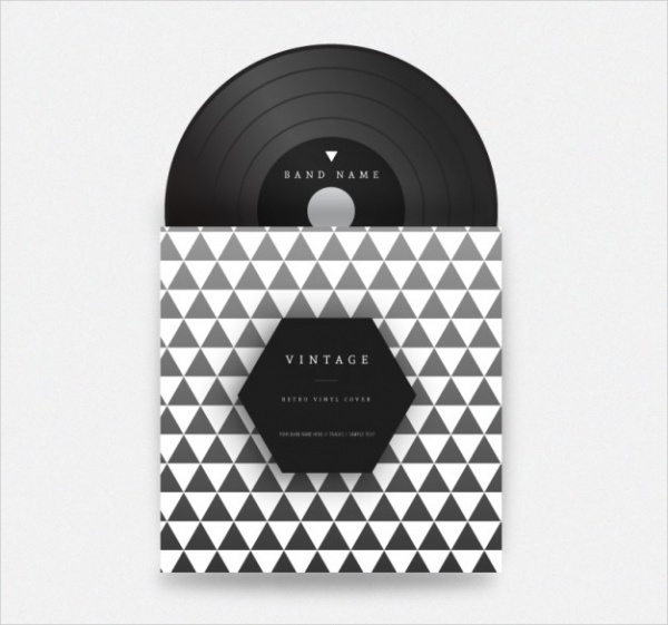 Triangles Vinyl CD Cover Packaging