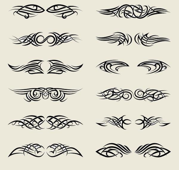 Tribal Swirl Tattoo Vector