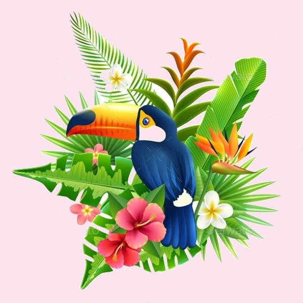 Tropical Illustration of Flower