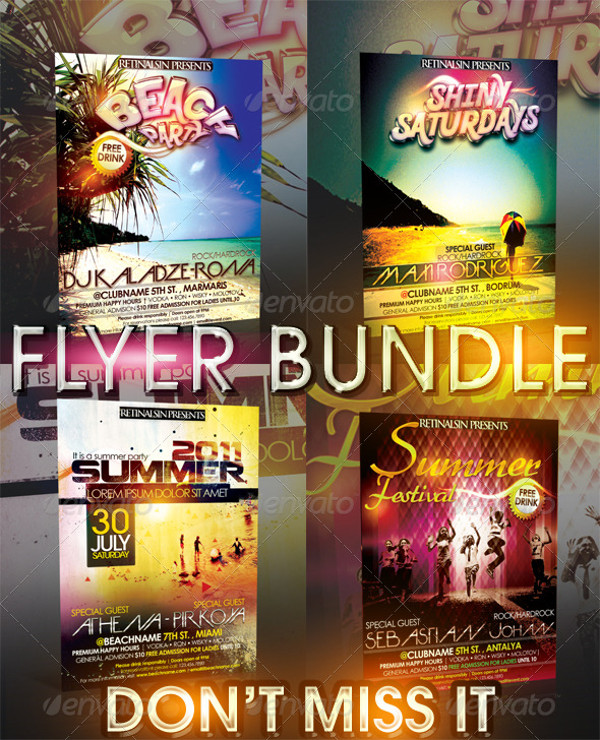 Tropical Summer Night Flyer Template