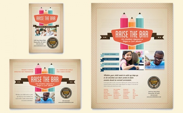 tutoring school flyer ad template 1