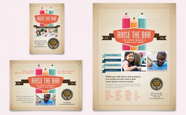 Tutoring School Flyer & Ad Template