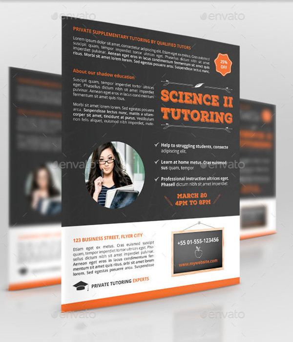 tutoring service flyer design