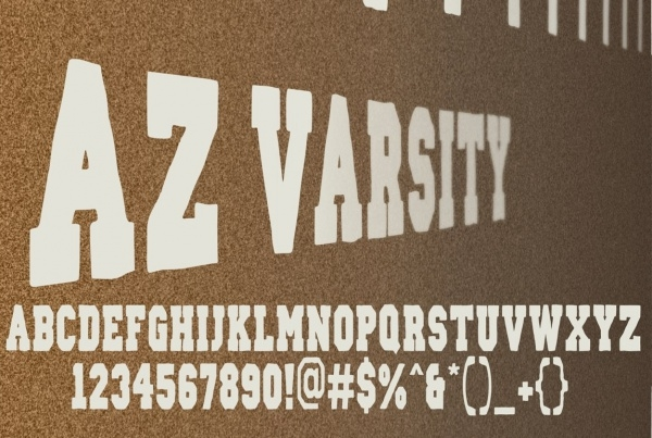 Typical AZ Varsity Font
