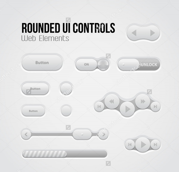 UI Transparent Buttons Pack