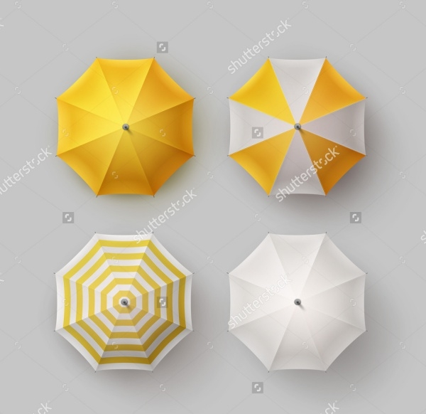 Umbrella Parasol Sunshade Mockup