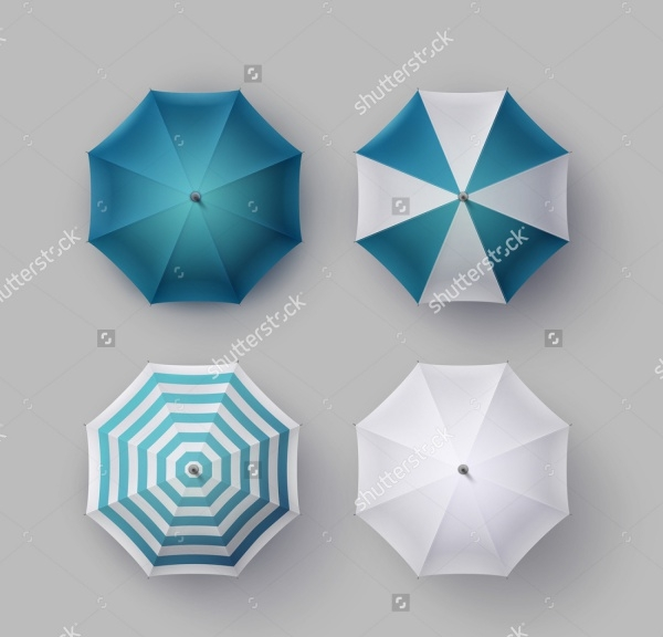 Umbrella Top View Mockup
