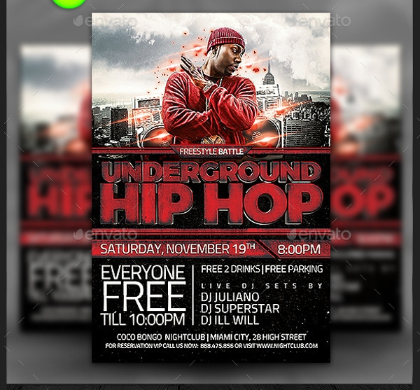 Underground Hip Hop Flyer Template